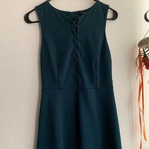 blue green semi formal dress
